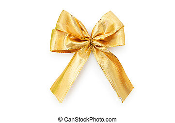 Ribbon bow isolated on the white background