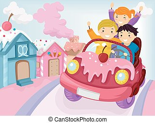Stickman Kids Candy Town