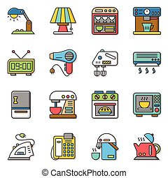icon set applianace