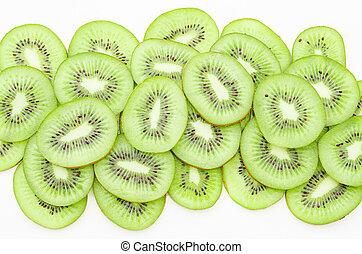 Beautiful kiwi fruit slices - Beautiful kiwi fruit slices on...