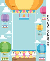Hot Air Balloon Frame - Frame Illustration Featuring Hot Air...