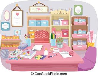 Craft Room Interior