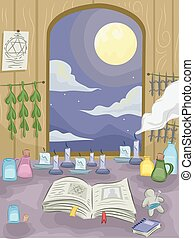 Witch Craft Interior - Illustration Featuring the Interior...