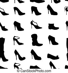 Seamless pattern with woman's shoes. Endless texture for...
