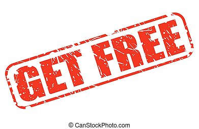 GET FREE red stamp text on white