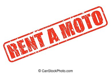 RENT A MOTO red stamp text on white