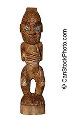 tradicional,  maorí, escultura