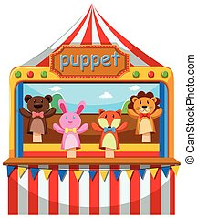 Puppet show and stage