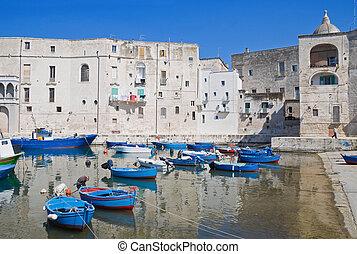 Monopoli Old Port. Apulia.