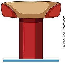 Balance beam on white background illustration