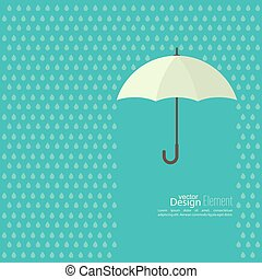 Abstract background with umbrella and rain. protection and...