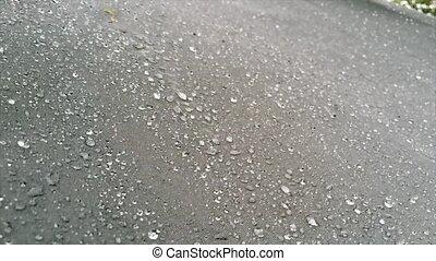 Slomo Water Droplets Against Black Background 120fps