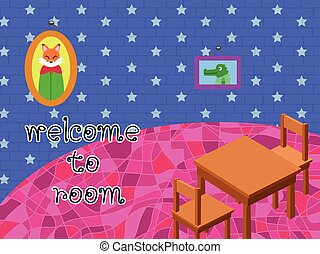 room cartoon - Invite anyone into your room lovely fox good