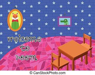 room cartoon - Invite anyone into your room lovely fox good.