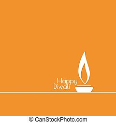 Diwali celebration vector - Abstract background with oil lit...