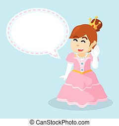 princess with callout  cartoon illustration