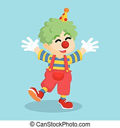 dressed as clown  cartoon illustration