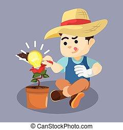 boy gardening idea plant