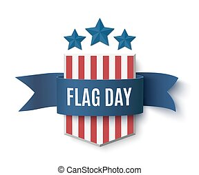 Flag Day badge - Flag Day background template Badge with...
