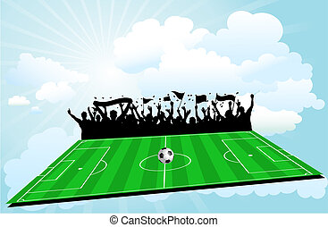 Football background - Football pitch background with...