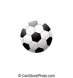 Soccer ball isolated on white on white background
