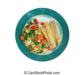 Migas Tex-Mex cuisine - migas is a traditional breakfast...
