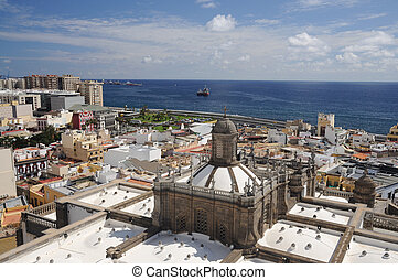 View over Las Palmas de Gran Canaria, Spain