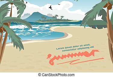 Summer vacation concept background with space for text....