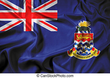 Waving Flag of Cayman Islands