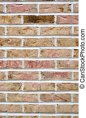 Brick Wall Background - Brick wall background with one...