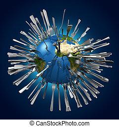 metaphorical image concerning globa - symbolic image...