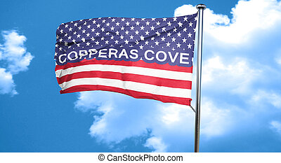 copperas cove, 3D rendering, city flag with stars and...