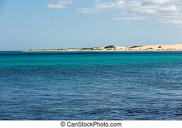 Corralejo Beach on Fuerteventura, Canary Islands Spain