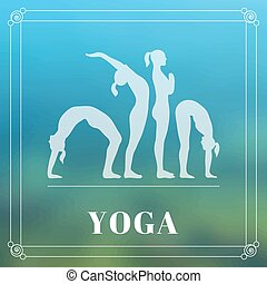 Yoga poster - Vector yoga illustration Yoga poster with...