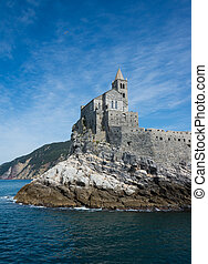 portovenere in liguria, italy - a view of portovenere in...