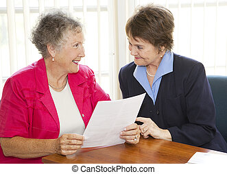Mature Business Women - Senior and middle-aged businesswomen...
