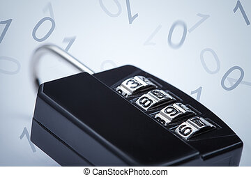 Encryption password concept - Encryption concept image Lock...
