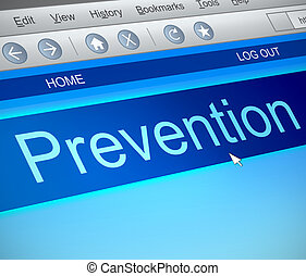 Prevention online concept - Illustration depicting a...