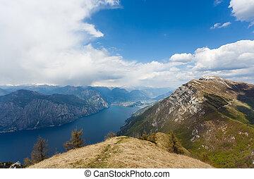 The Lake Garda - View of the Lake Garda from mount of Monte...