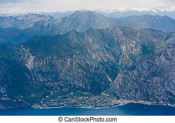 Limone Sul Garda - View of the Limone Sul Garda town on the...
