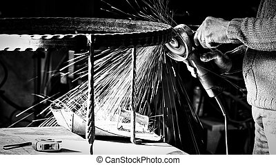 Blacksmith with sparks