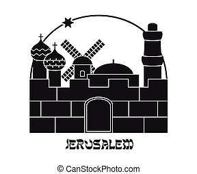 Silhouette of the Old City, Jerusalem, Israel