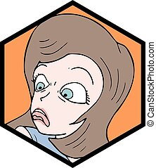disgust expression icon - Creative design of disgust...