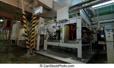 Machine Center Production of tape for laminate