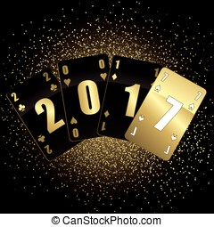 Black and gold cards 2017 full vector