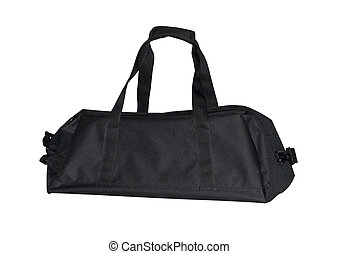 black sporting bag