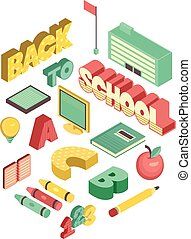 Isometric Back to School