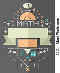 cartel, diseño, matemáticas, plano