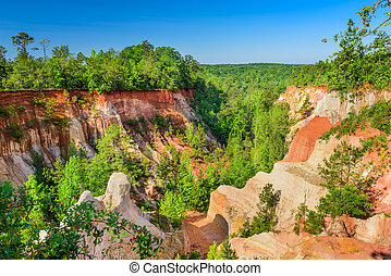 Providence Canyon, Georgia - Providence Canyon in Southwest...