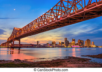 New Orleans Bridge - New Orleans, Louisiana, USA at Crescent...